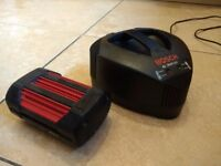 Bosch Rotak 36V Battery AND Charger for Cordless Bosch Rotak Lawnmowers etc