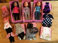 DesignaFriend Collection - Dolls plus additional outfits and accessories