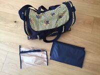 Baby changing bag and accessories
