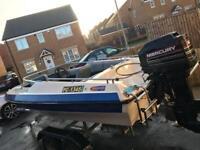 Reduced! Dateline bikini 60hp mercury outboard twin wheel snipe trailer