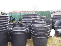 Heavy Duty Black Tree Pots Various Sizes (Job Lot)