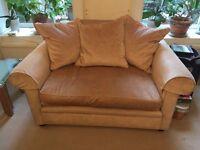 2 seater velvet sofa. Hand-made.