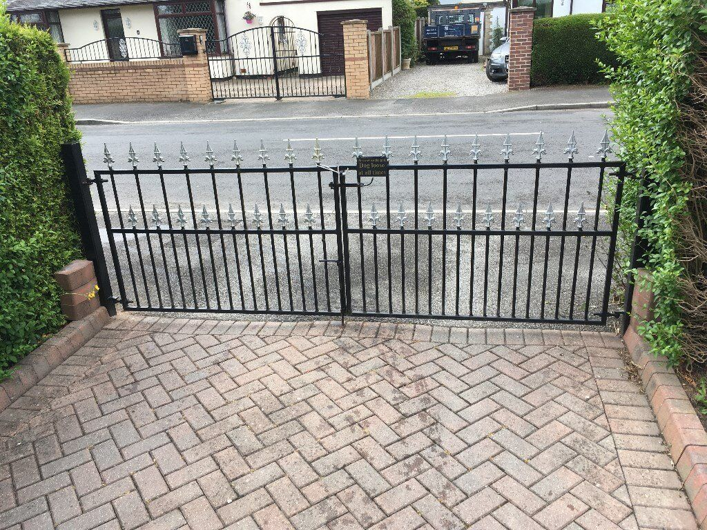 Driveway Gates Black Iron Gates With Posts Ready To Fit