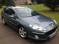 06 Top spec,full Peugeot history,just serviced,10 months mot,Peugeot 407sw 2.0 hdi executive estate.