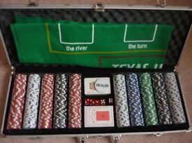 New 500 Piece Poker Set