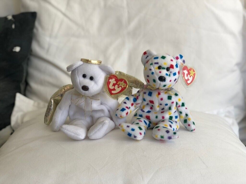 2 x TY Special Bear  Halo II  and  Ty 2K  Beanie Babies 221aff682c2