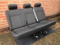 Vw T5 T6 Transporter triple Rear Seat in PANDU Trim (NEW)