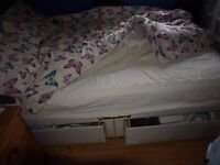 Double bed and mattress and headboard