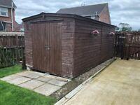 Large wooden garden shed 16ftx8ft
