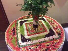 Fruite display plum tree on weeding and party