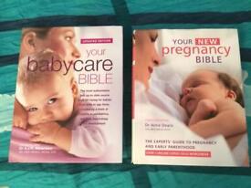 Books: Pregnancy bible & Babycare bible