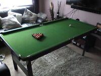 Snooker/pool table fold away