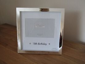 Beautiful silver effect 18th birthday photo frame