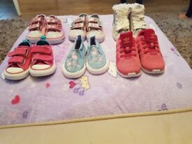 girls trainers size 5 inc sketchers twinkle toes, adidas,converse etc