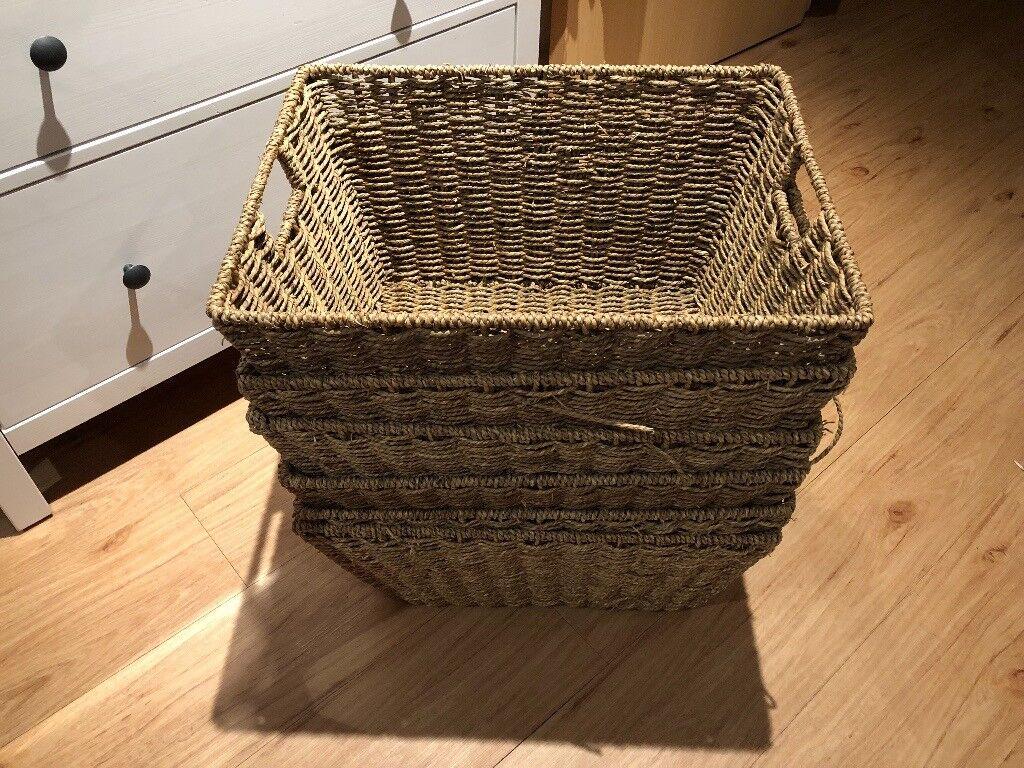 Argos Home Set Of 3 Large Seagrass Storage Baskets In Ipswich Suffolk Gumtree
