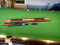 Quality Handmade EOXE-X Snooker Cue, Mini Butt, Professional Extension & Case