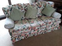 Suite 3 piece, floral patterned seeks kind new home.