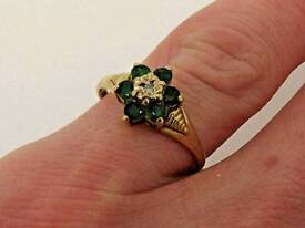 EMERALD AND DIAMOND RINGS £49 EACH
