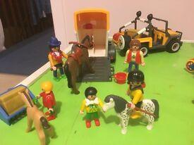 Playmobil Jeep & Horsebox Set