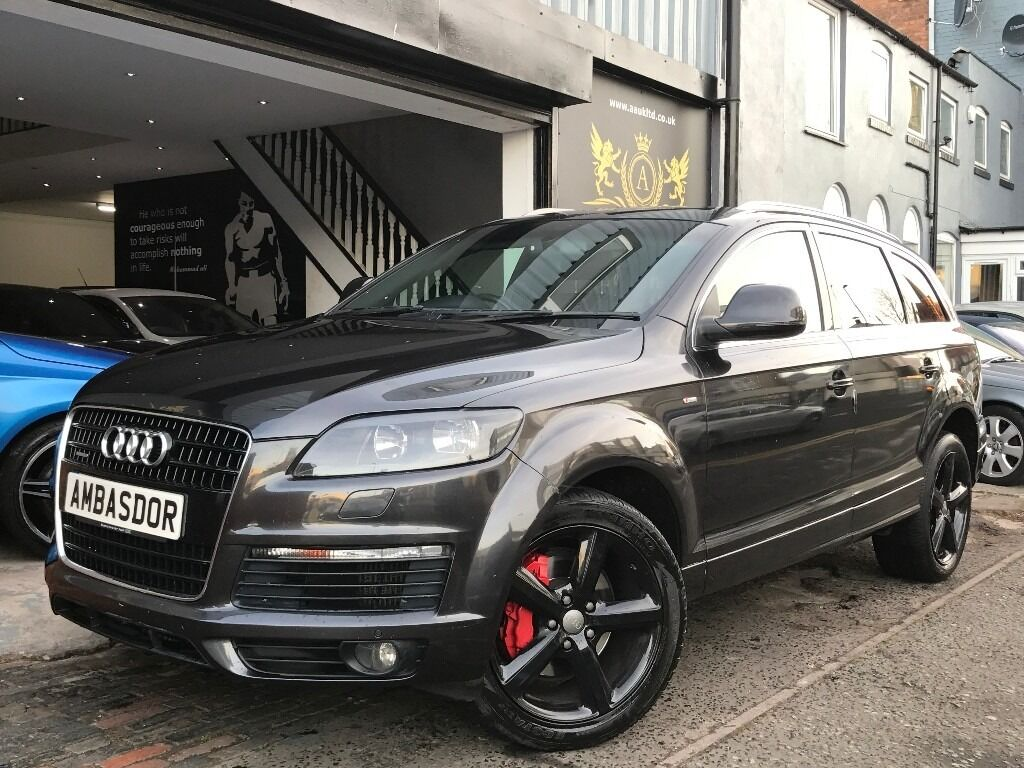 audi q7 3 0 tdi s line quattro 5dr black edition extras huge spec full service in moseley. Black Bedroom Furniture Sets. Home Design Ideas
