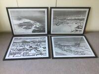 Aerial shots of historical DUBAI - 4 framed black & white prints