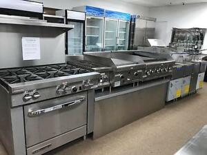 RESTAURANT EQUIPMENT STORE, UPRIGHT COOLERS, FREEZERS, NOT USED ** BRAND NEW APPLIANCES, INDUSTRIAL, HEAVY DUTY GRILL