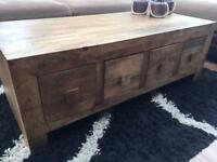 Mango 8 drawer coffee table