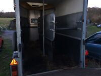 Ifor Williams HB505 2010 twin horse trailer, seldom used