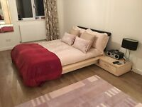 John Lewis double bed with side table