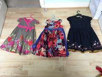 3 lovely cotton summer dresses 7-8 yrs