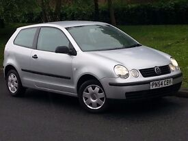 VOLKSWAGEN POLO 1,4 TDI 54 REG SILVER FULL SERVICE HISTORY CAMBELT CHANGED DRIVES MINTP/X WELCOME