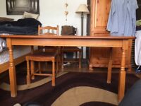 solid wooden table, no longer needed