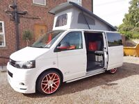VW T5 Camper 2015 Pop Top 22000 miles 4 Berth New Conversion Warranty on van and conversion as new