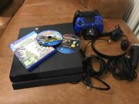 PlayStation 4 and 3 games 2 controllers headset and microphone