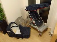 Classic Silver Cross carrycot/pram/pushchair system