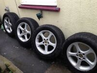 X4 18 inch Alloy wheels with tyres