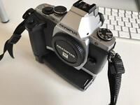 Olympus OMD EM5 body, grip and 2 lens pack