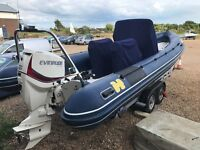 Humber 7.5m Offshore Ocean Pro Rib, 22 hours, Commissioned 2014