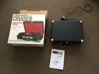 crosley cruiser record player boxed, excellent condition