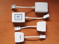4 Four Telephone Broadband ADSL Micro Filter Microfilter Splitters Adaptors Connectors