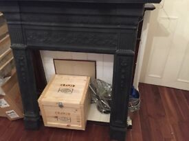 Iron fireplace surround £100 clapham