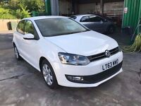 2013 VW POLO MATCH EDITION WHITE 1.2 TDI 72 MPG £20 TAX 28600 MILES 1 OWNER FINANCE £148 X 60 MONTHS