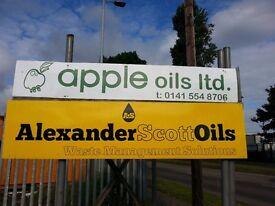 Labourer, Delivery driver waste oils