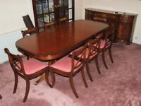 QUALITY REGENCY STYLE DINING TABLE 8 CHAIRS SIDEBOARD FREE DELIVERY EDINBURGH GLASGOW TAYSIDE FIFE