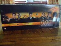 18 Film Box set of James Bond Videos, some unopened