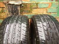 Tyres Triangle 225 55 16 M+S x 2 about 4-5 mm tread left
