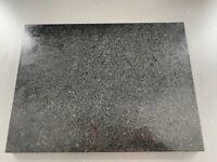 Black/grey granite worktop protector