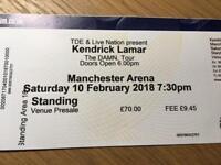 Kendrick Lamar Standing Ticket Manchester