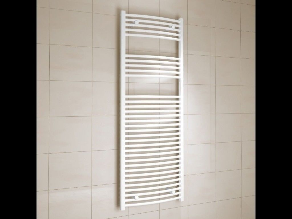 KUDOX WHITE CURVED TOWEL WARMER 1600mm x 600mm (RRP £125)