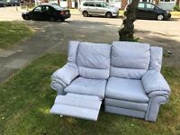 FREE 100% real leather sofa 3 seater&2 seater
